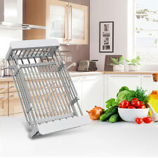 Kitchen Sink Dish Drying Rack Holder Drainer Baskets 2 Sizes BOS Stainless Steel