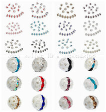 100 Pcs Czech Crystal Rhinestones Pave Diamante Round Spacer Beads 6mm 8mm 10mm