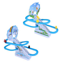 Climbing Stairs Electric Slide Track Kids Music Assembled Educational Toys