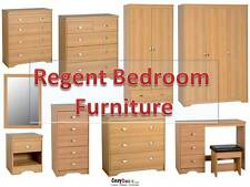 Regent Teak Bedroom Furniture Bedside Chest of Drawers Dressing Table Wardrobe