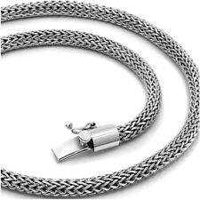 """925 Solid Sterling Silver Mens Necklace Rope Chain for Men Women Sizes 18"""" 20"""""""