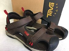 Teva Boys Toachi 4 Sandal Chocolate Brown Black Red Kids Size 4 5 Juniors Kids