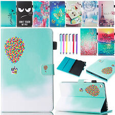 Smart Leather Patterned Wallet Case Stand Cover For Amazon Kindle Fire HD 8 2016