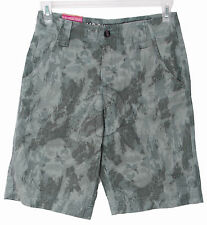 New Mens Mossimo Supply Flat Front Shorts Camo Green Camouflage 28 30 38
