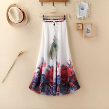 Women Floral Skirt Bohemia Vintage  Floor-length Long Maxi Skirt