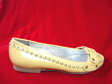 LAURA BRANDON STUDDED MUSTARD COLORED LOAFERS  FREE SHIPPING