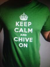 """the Chive *Authentic* """"Keep Calm and Chive On"""" Men Green t-shirt KCCO M L XL XXL"""