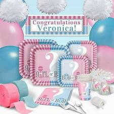 GENDER REVEAL PARTY SUPPLIES-BABY REVEAL PARTY-Decorations/Invitations/Plates