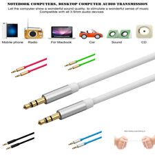 New 3.5mm Color Car AUX Auxiliary Cord Male to Male Audio Cable FOR MP3 CAR IPOD