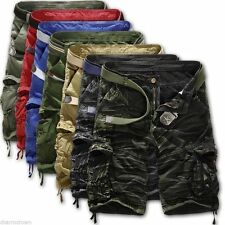 Mens Camouflage Cargo Shorts Military Army Combat Work Camo Short Pants Trousers