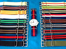 PREMIUM NYLON MoD USM G-10 MILITARY STYLE WATCH BANDS, FOR TIMEX + MOST WATCHES
