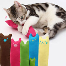 Interactive Scratch Crazy Cat Kicker Kitty Catnip Toy Teeth Grinding Pillow