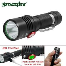 CREE XM-L T6 LED Flashlight 8000 LM 2 Mode Torch Lamp Camping Light+USB Cable BH