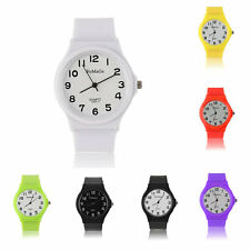 Mate Casual Fashion Silicone Jelly Rubber Gel Sports Classical Wrist Watch AO