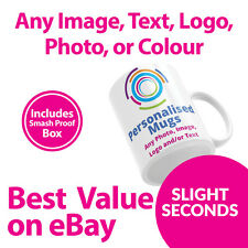 Personalised Mugs / Cup - Custom Gift - Your Image Photo & Text & Design SECONDS