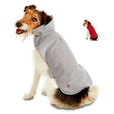Good2Go Red and Gray Reversible Warm & Waggin Fleece Cozy Dog Jacket M L XL New