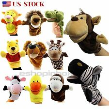 Kid Baby Animal Plush Hand Glove Puppets Finger Role Pretend Play Funny Toys USA