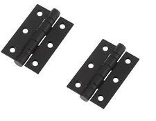 75 X 50 X 2mm Butt Hinges, Ball Raced, Powder Coated Black