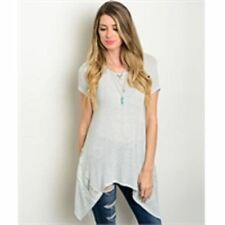 NWT~BOUTIQUE~SWEET CLAIRE~GRAY~LACE~SWEATER/TOP/TUNIC~SMALL, MEDIUM, LARGE~SALE