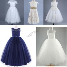 Kids Flower Girl Baby Bow Princess Dress Party Wedding Bridesmaid Formal Dresses