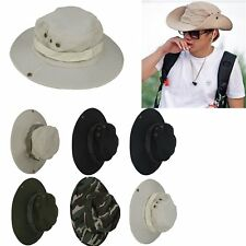 Bucket Hat Fishing Hunting Boonie Cap Unisex Military Camo Wide Brim Outdoor AT