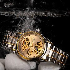 Mens Self Winding Date Automatic Mechanical Stainless Steel Sport Wrist Watch