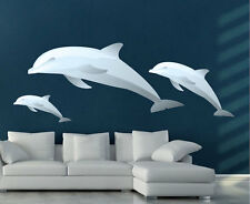 Dolphins Wallpaper Ocean Life Wall Decals Three Dolphin Kids Sea Creatures, n12