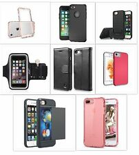 Iphone 7 Cell Phone Cases or Armband Black Pink Leather Card Slot