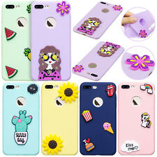 Lovely 3D Soft TPU Silicone Rubber Protective Case Cover For iPhone 5s 6s 7 Plus