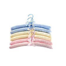 5pcs Durable Satin Hangers Clothes Padded Sky Blue for Coat Jacket Sweater Shirt