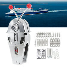 316 Stainless Steel Boat Dual Engine Control Top Mount Marine Twin Lever Handle