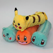 Pokemon Pencil Bag Makeup Cosmetic Brush Pouch  Pen Pencil Case Plush Bag
