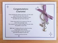 DRIVING TEST PASSED Gift Card Poem with KEYRING Congratulations Driver *NEW*