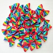 50pcs Colorful style Baby Kids Girls Ribbon Bowknot Bow Hair Alligator Clips