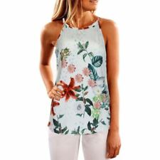 New Printed Sling Multicolor Vest Floral Vest Sleeveless Tank Tops For Women
