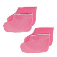 2 Pairs Paraffin Booties for Pedicures Manicures Foot Care Paraffin Wax Pink
