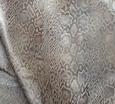 A27 Leather Cow Hide Cowhide Upholstery Craft Fabric Gray with Brown Half Hides