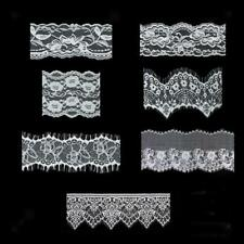 White Embroidered Lace Trim Ribbon Wedding Sewing Appliques Collar DIY Crafts