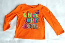 Toddler Girls HALLOWEEN SHIRT Witch Hat WICKEDLY CUTE Broom 12 24 MO 3T 4T 5T