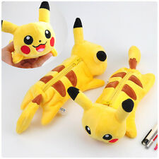 Pokemon Go Pikachu Yellow Plush Storage Bag Make Up Bag Pencil Case Pen Bag