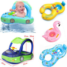 Sunshade Baby Kids Inflatable Float Seat Boat Swim Swimming Ring Pool Water Fun