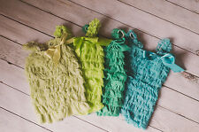 Baby Petti Lace Romper Fall Baby Ruffle Romper Photography Prop Birthday Outfit