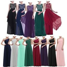 Women Ladies Chiffon Bridesmaid Dress Long Formal Party Cocktail Ball Gown Prom