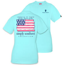 American By Birth Southern By Grace Of God Simply Southern Cotton Tee Shirt