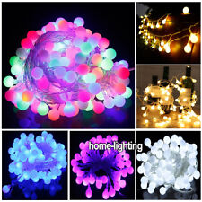 Joinable 10M 100 LED String Fairy Ball Lights Christmas Wedding Indoor Outdoor