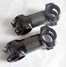 "Full Carbon Fiber 1-1/8"" 3K 31.8 MTB Road Bike Bicycle 6°/17° Handlebar Bar Stem"