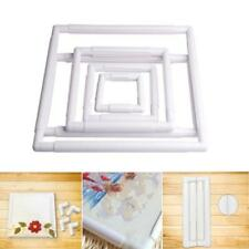 Square Rectangle Plastic Clip Embroidery Frame Hoop for Cross Stitch Craft Tool