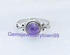 Blue Amethyst Ring 925 Sterling Silver Ring stone Ring Size 6 7 8 9 10 11 R15AM