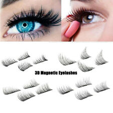 Natural 3D Magnetic False Eyelashes No Glue Handmade Extension Eye Lashes 4Pcs