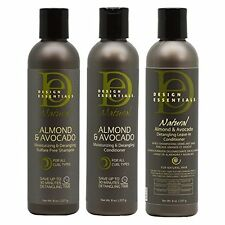 Design Essentials Almond/Avocado Moist. and Detang. Smpoo,Cond,Leave In Cond 8oz